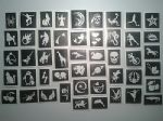 Stencils for glitter tattoos / airbrush / henna / cakes boys girls children
